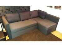 IKEA CORNER SOFA BED WITH FOUR CUSHIONS !!! PERFECT CONDITION !!! DELIVERY !!!