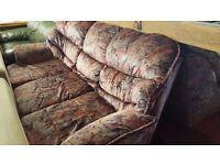 Soft Velvet Pattern Sofa in Good Condition