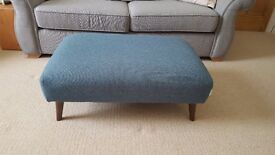 DFS French Connection 'Zinc' Teal Footstool