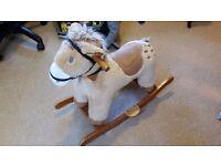 ELC Rocking horse, makes noise when you press ear £4