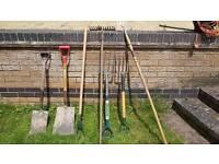 Gardening Tools - Spades, Shovels, Rakes, Weed Forks