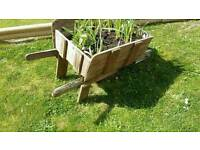 Garden ornamental wooden wheelbarrow FREE