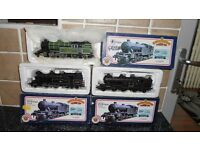 Three Bachmann/Hornby 2-6-2 Tank Locos 31-606 31-601 31-600 boxed and Mint Condition