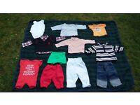 Baby boy 3-6 months bundle of trousers, vest, tops, pants, shorts, jeans * 11 items