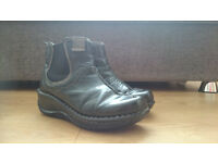 2 pairs of woman's boots size 4 (blacks - leather)