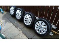 Vauxhall alloys set zafira b , vectra