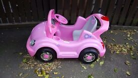 Outdoor kids pink chargeable car