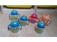 5x Avent Easy Sip Spout Cups, Plus free Tommee Tippee Sippy Cup - EXCELLENT CONDITION
