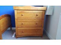 Babies R Us Three Drawer Dresser in Antique
