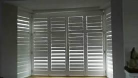 White shutter UPVC blinds