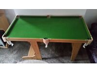 Indoor pool table foldable