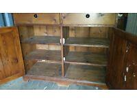 Vintage old pine cupboard