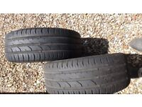pair of continental 195/55 R15 tyres