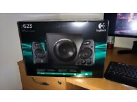 Logitech z623 2.1 pc speakers and subwoofer