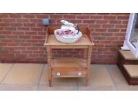 Wash stand, bowl and jug