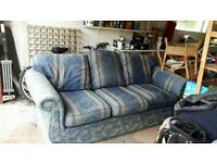 3 and 2 seater settees with foot stool