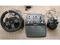 Logitech G920 Steering Wheel and Gear Shifter
