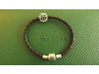 NEW Authentic Pandora Bracelet 18 cm Moments Silver 925 ALE and Charm Primrose Openwork 791489