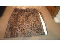 Dark brown patterned curtains