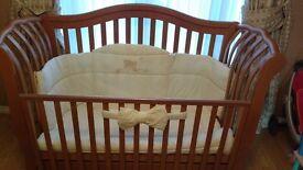 Italian Golden baby rosewood cot