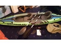 INTEX Challenger K2 Inflatable kayak + 2x HH lifejackets