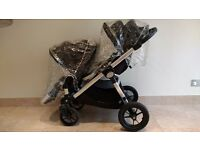 BABY JOGGER CITY SELECT DOUBLE PUSHCHAIR TRAVEL SYSTEM BUGGY PRAM