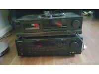 Sherwood Surround Sound Amplifier & Technics cassette deck