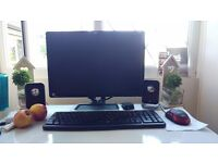 Dell Pc + 19 lcd monitor core2duo 4gb ram