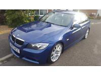 Beautiful BMW 325d M SPORT in Le Mans Blue, 55k miles, FSH, 1 Owner from new, MOT until Sept 2018