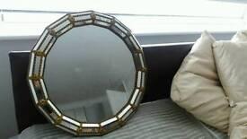 French gilt Gold mirror