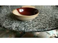 12 new bowls in brown