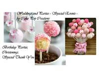 CAKE POP CREATIONS - SPECIALITY CAKES; Weddings, Parties, Thank you