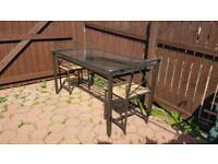FREE Steel Dining / garden table with underneath magazine rack and 2 chairs