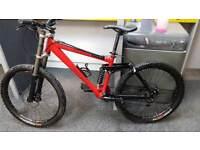 "Kona Stinky downhill Mountian Bike Large 17"" frame"