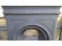 PRETTY CAST IRON FIREPLACE