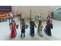 Playmobil knights on horseback, 5 knights included