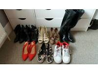 Bundle of shoes and handbags