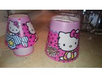Hello Kitty bedside lamp and matching lampshade