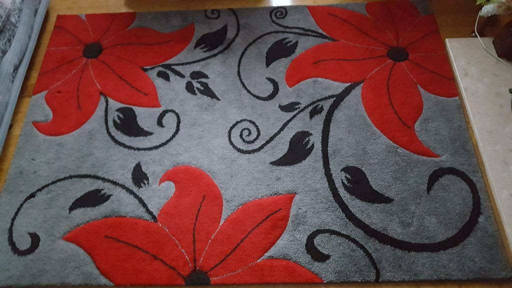 Red/grey rug