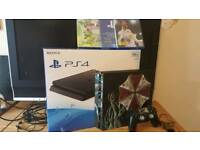 Ps4 slim boxed + 2 new games sealed