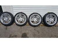Alloy wheels 17 '' + 4 x tyres 205 45 17 HONDA,Hyundai,Daewoo,KIA,Mitsubishi,Nissan,Rover,and more..