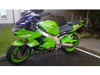 Kawasaki ZX9R E1 (2000) Ninja, green, not CBR, R1, GSXR, ZX6R *reduced*