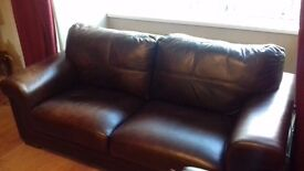 3 piece sofa suite. 3 person settee and 2x single