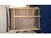 Canvas double wardrobe with shelving