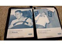Ford focus handbook and Nissan Micra manual