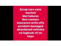 Scrap cars vans wanted urgently