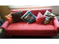 Retro/Vintage Red Bed Settee
