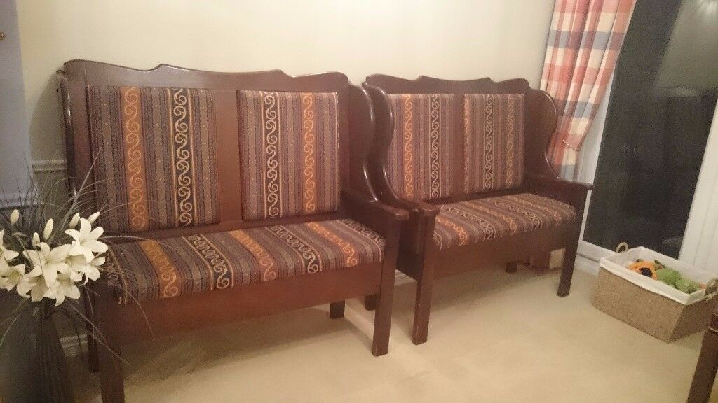 Traditional Upholstered Bench Seats - Solid Wood