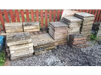 Various paving and edging