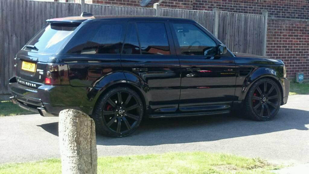 56 reg range rover sport with hst bodykit 2 7 tdv6 all black fsh in portsmouth hampshire. Black Bedroom Furniture Sets. Home Design Ideas